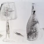 lampe et bouteille