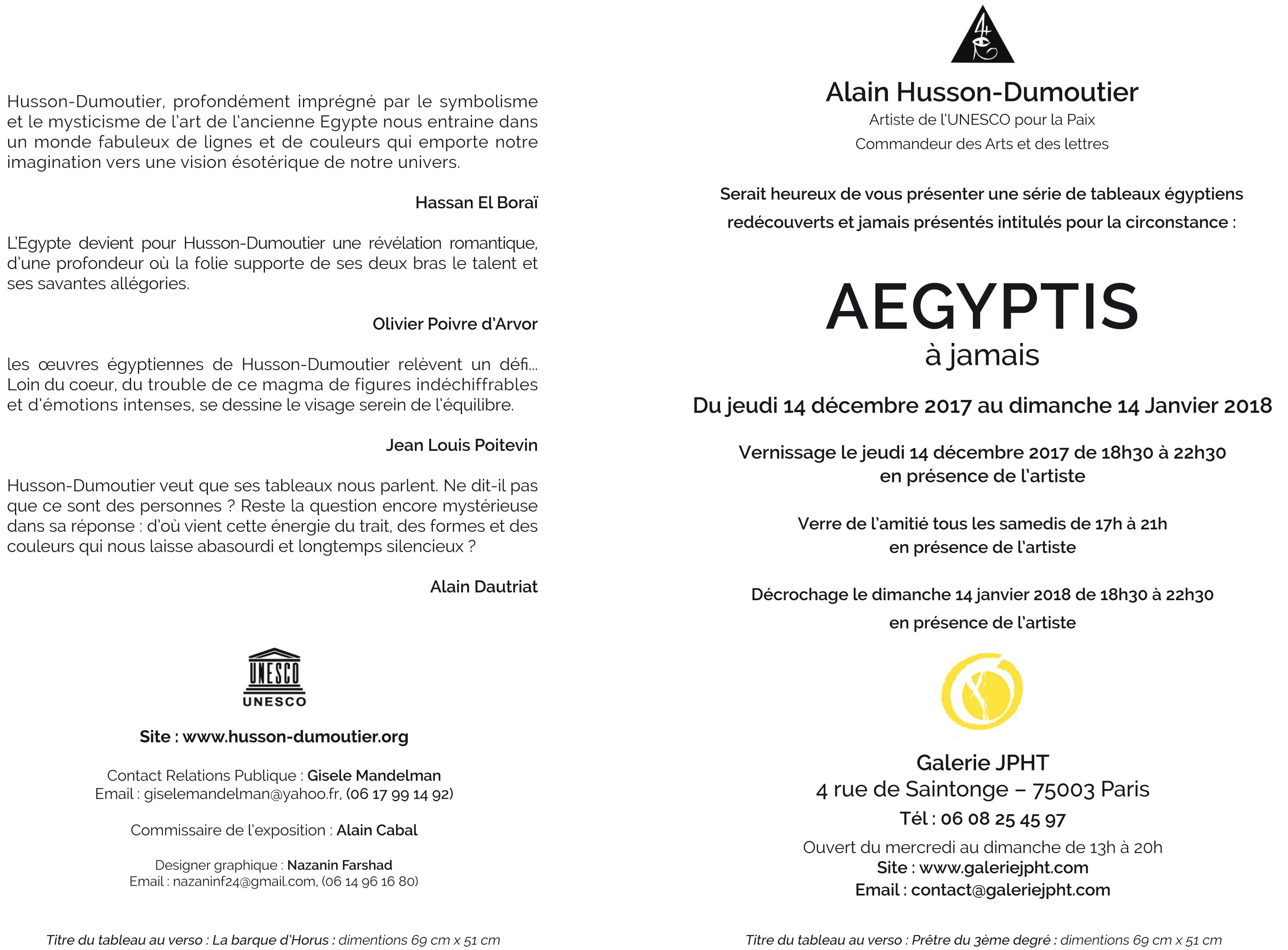 Aegyptis forever - Alain Husson-Dumoutier Alain Husson-Dumoutier