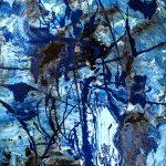 (17) Alcyon - B060318 - SOFT- Huile, acrylique, pigment pur Sur toile - 100 x 50 cm-fond noir