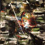 (27 ) Betelgeuse - Cassiopée - B210218 - 50 x 40 cm- Huile, acrylique, pigment pur sur bois